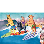 Honolulu Hot Dogs - Personalized Greeting Card