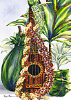 Mele Pua (Flower Song) - Hawaiian Happy Birthday Greeting Card