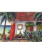 Holiday at the Surf Shack - Hawaiian Holiday / Christmas Greeting Card