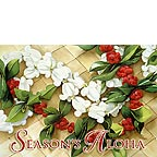 Holiday Leis - Hawaiian Holiday / Christmas Greeting Card