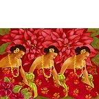 Three Graces - Hawaiian Holiday / Christmas Greeting Card