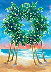 Palm Wreath - Hawaiian Holiday / Christmas Greeting Card