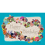 Coral Birthday Lei - Personalized Greeting Card