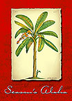 Banana Plant - Hawaiian Holiday / Christmas Greeting Card