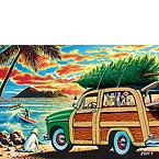 Surfing Holidays - Personalized Holiday Greeting Card