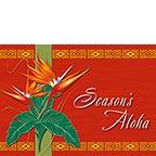 Holiday Bird of Paradise - Hawaiian Holiday / Christmas Greeting Card