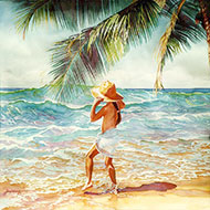 "At the Seashore - ""I Kahakai"" - Limited Edition Giclée Art Print"