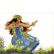 "Blue Hula - ""Hula Polu"" - Limited Edition Giclée Art Print"