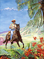 "Hawaiian Cowboy - ""Paniolo"" - Limited Edition Giclée Art Print"
