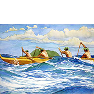 "Outrigger on the Sea - ""Wa'a i ke Kai"" - Limited Edition Giclée Art Print"
