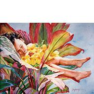 """Ti Leaf Baby - """"Keiki La'i"""" - Limited Edition Giclée Art Print"""