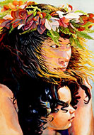 Watching the Hula - <br>&quot;Nana i ka Hula  &quot; - Limited Edition Gicl&eacute;e Art Print