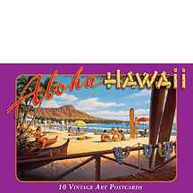 Aloha Hawaii - Waikiki - Hawaiian Boxed Postcards
