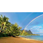 Rainbow Beach - Hawaiian Everyday Blank Greeting Card