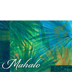 Tahitian Palms - Hawaiian Mahalo / Thank You Greeting Card