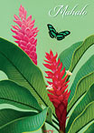 Peppermint Ginger - Hawaiian Mahalo / Thank You Greeting Card