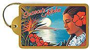 Aloha Moonrise - Hawaiian Holiday Christmas Gift Tag