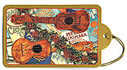 The Joyous Sound of the Ukulele - Hawaiian Holiday Christmas Gift Tag