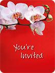 Invitation Orchid - Hawaiian Invitation Note Cards