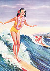 Libby's Surfer Girl - Hawaii Magnet