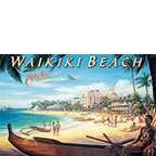 Waikiki - Hawaii Magnet