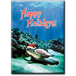 Turtle Santa - Hawaiian Holiday Christmas Magnet