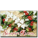 Holiday Leis - Hawaiian Holiday Christmas Magnet