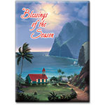 Peace on Earth - Hawaiian Holiday Christmas Magnet