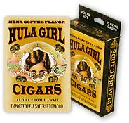 Hula Girl Cigars - Hawaii Poker Playing Cards