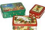 Holiday Tin Box Set - Holiday Christmas Tin Boxes