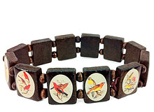 Hawaiian Birds Art Bracelet - Hawaiian Jewelry