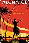 Aloha Oe - Hawaiian Vintage Postcard