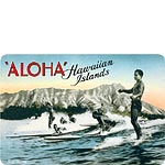 Surf Riding - Hawaiian Vintage Postcard