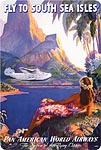 Fly to the South Seas - Hawaiian Vintage Postcard