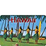 Hula Dancers - Hawaiian Vintage Postcard