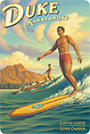Duke Kahanamoku - Hawaiian Vintage Postcard