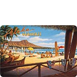 Aloha Hawaii (Beach) - Hawaiian Vintage Postcard