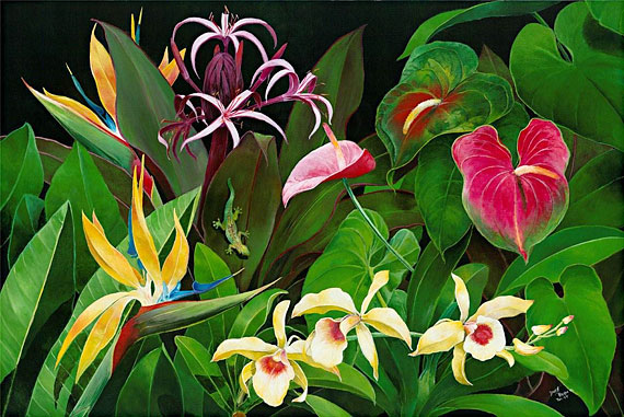 Hawaiian Artist Danny Braddix's Maui In The Year 2000